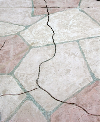 An Excellent Alternative To Repairing Concrete Cracks Found In Pool Patios  Is To Hide Them Within The Grout Lines Of Our Faux Flagstone Segments.